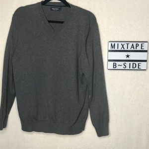 Nautica Gray V-Neck Sweater